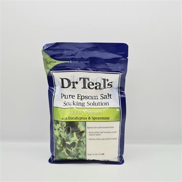 Dr Teals Epsom Salt Soaking Salts - Relax & Relief - Eucalyptus & Spearmint
