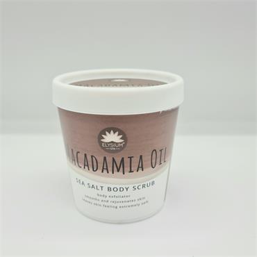 Elysium Sea Salt Body Scrub - Macadamia Oil