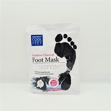 Escenti Foot Mask - Purifying - Bamboo Charcoal
