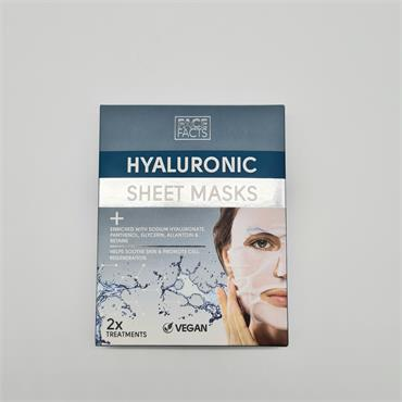 Face Facts Hyaluronic Sheet Mask - 2 Pack