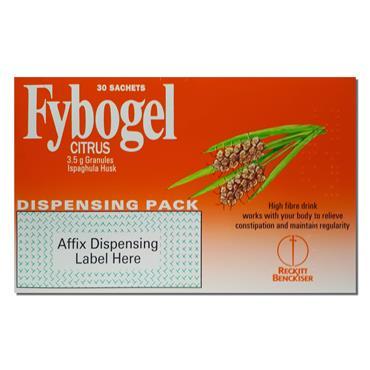 Fybogel (ispaghula husk) Citrus 30 Pack