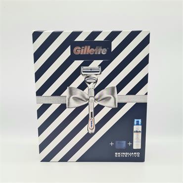 Gilette Skin Guard Sensitive Christmas Set - Razor and Shave Gel 200ml