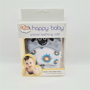 Happy Baby Animal Teething Mitt - Grey