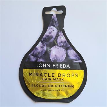 John Frieda Miracle drops Hair Mask - Blonde Brightening -Grapeseed Oil