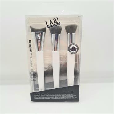 LAB2 Make Up Brush Set 3 Piece - Charcoal