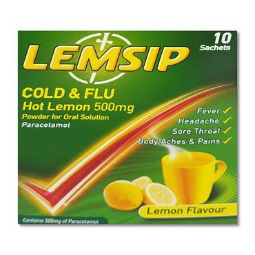 Lemsip Original 500mg Sachets 10 Pack
