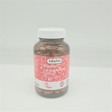 Lifeplan Vitamin C Low Acid Buffered 500mg - 90 Tablets