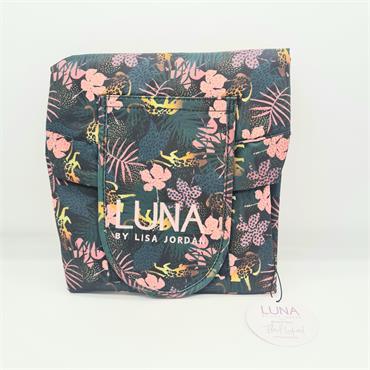 Luna Beauty Bag - Floral Leopard