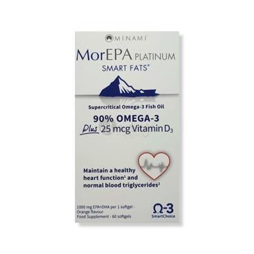 MorEPA Platinum Smart Fats 90% Omega 3 High EPA Formula & Vitamin D3