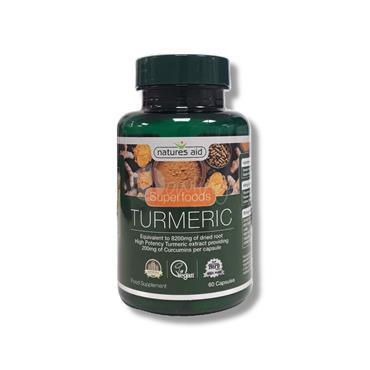 Natures Aid Tumeric Capsules - High Potency Tumeric Extract