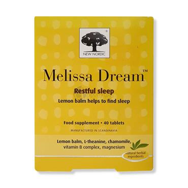 New Nordic Melissa Dream Restful Sleep 40 tablets