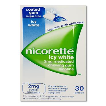 Nicorette 2Mg Gum Icy White 30 Pack