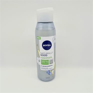 Nivea Oil Infused Shower Gel - Cotton Flower - 300ml
