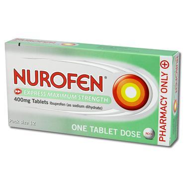 Nurofen Express 400Mg Maximum Strength Tablets 12 Pack