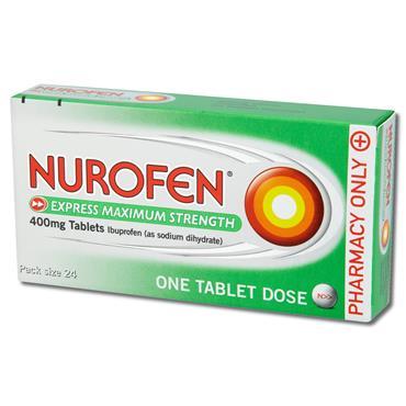 Nurofen Express 400Mg Maximum Strength Tablets 24 Pack