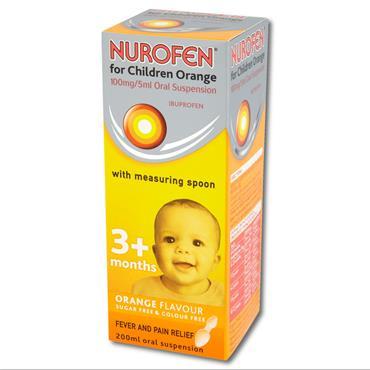 Nurofen Children Orange Oral Suspension With Spoon