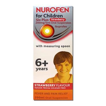 Nurofen Children Six Plus Strawberry 200Mg 5Ml Oral
