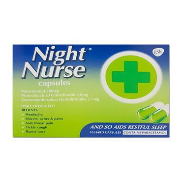 Nurses Beechams Night Nurse Caps 10 Pack