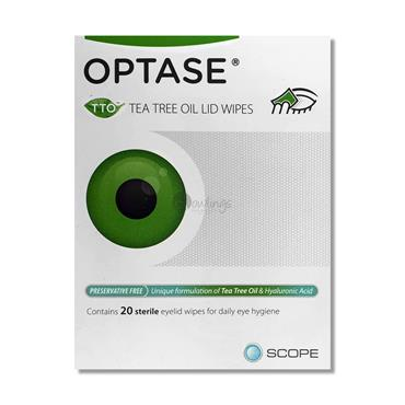 Optase Tea Tree Oil Lid Wipes