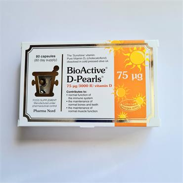 Pharma Nord Bio Active D Pearls 75ug - 3000IU - 80 Capsules