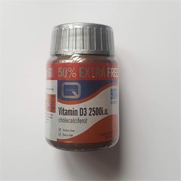 Quest Vitamin D3 2500iu - 90 Tablets