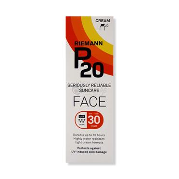 P20 Face Suncream SPF 30 - Seriously reliable Suncare