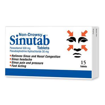 Sinutab Non Drowsy Tablets 15 Pack