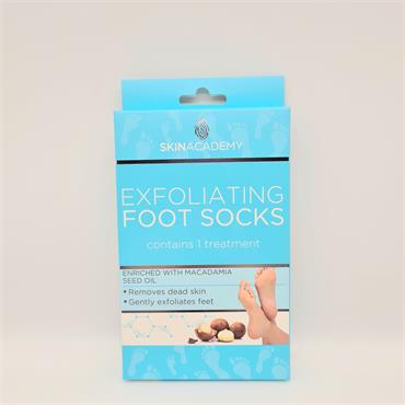Skinacademy Exfoliating Foot Socks - With Macadamia Seed Oil
