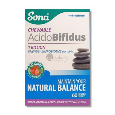 Sona Acidobifidus Chewable Tablets - Probiotics