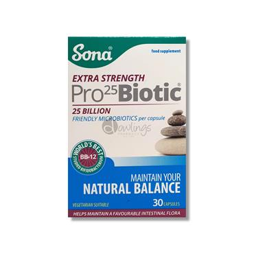 Sona Extra Strength Pro-25-Biotic