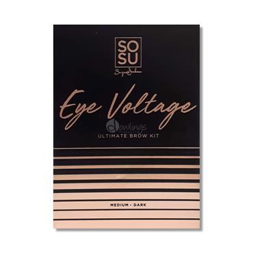 SOSU Eye Voltage Ultimate Brow Kit Medium/Dark
