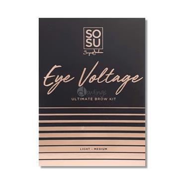 SOSU Eye Voltage Ultimate Brow Kit Light/Medium