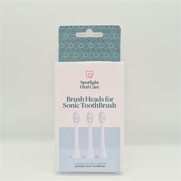 Spotlight Brush Heads for Sonic Toothbrush - 3 Pack