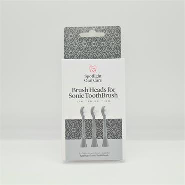 Spotlight Brush Heads for Sonic Toothbrush - Grey - 3 Pack
