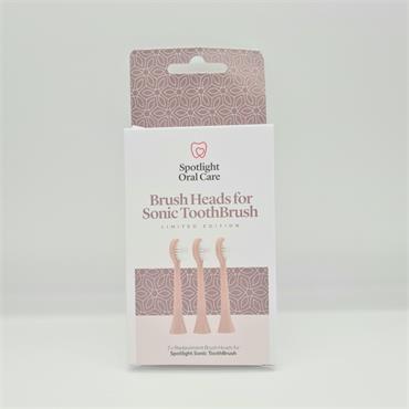 Spotlight Brush Heads for Sonic Toothbrush - Rose Gold - 3 Pack