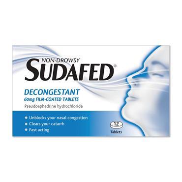 Sudafed Tablets 12 Pack