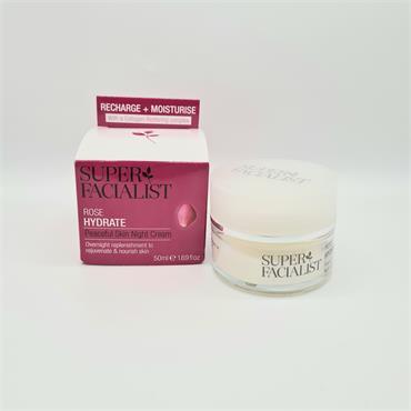 Super Facialist Rose Hydrate Peaceful Skin Night Cream - 50ml