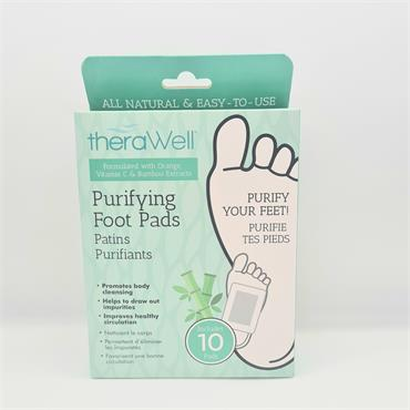 Therawell Purifying Foot Pads - 10 Pack
