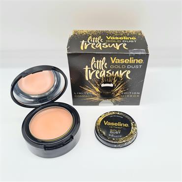 Vaseline Gold Dust Little Treasure - Vaseline Compact Mirror & Gold Dust Pot