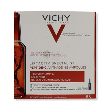 Vichy LiftActiv Specialist Peptide-C Anti Ageing Ampoules - 60 Applications