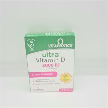 Vitabiotics Ultra Vitamin D 3000iu - 96 Tablets