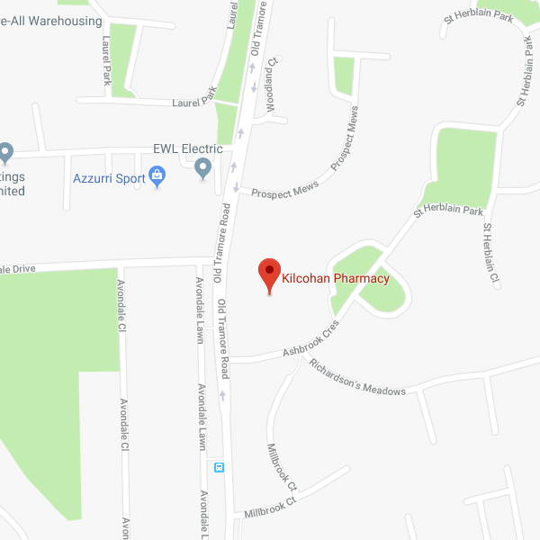 Map of Kilcohan Pharmacy location