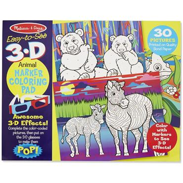 3D Marker Colouring Pad - Animals