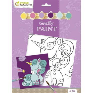 Graffy Paint Unicorn 20x20 cm
