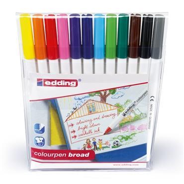 edding Colourpen Broad - Wallet of 12