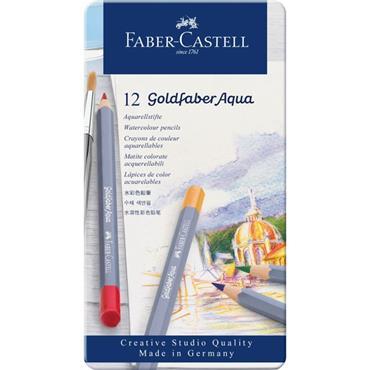 GOLDFABER AQUA COLOUR PENCILS TIN 12