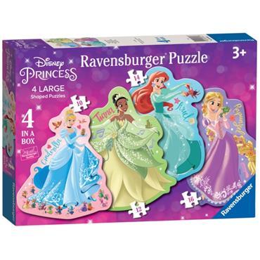 Disney Princess 4 Shap.Puz.in
