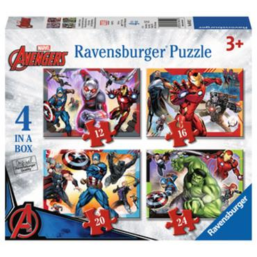 Marvel Avengers  - 4 in a Box Jigsaw Puzzle