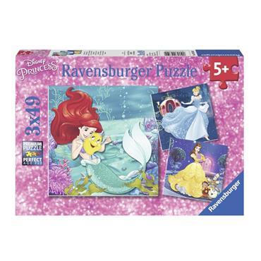 Disney Princesses  - 3 X 49 Piece Jigsaw Puzzle