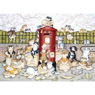 Crazy Cats at the Postbox 1000p